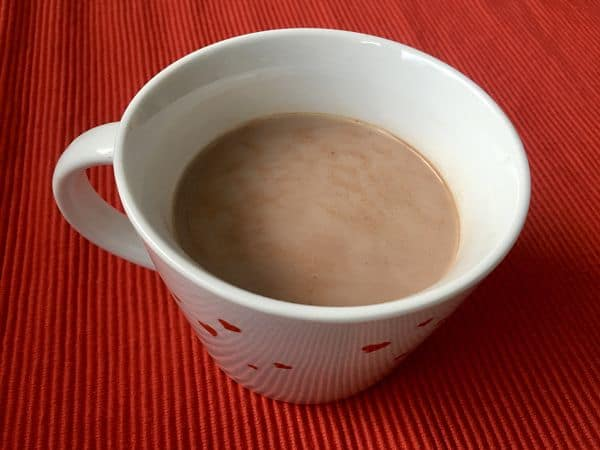 Taza de cacao casero