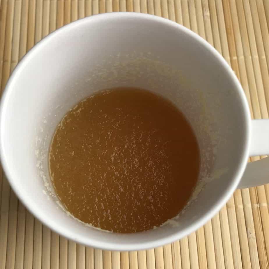 Polvo de gelatina en reposo