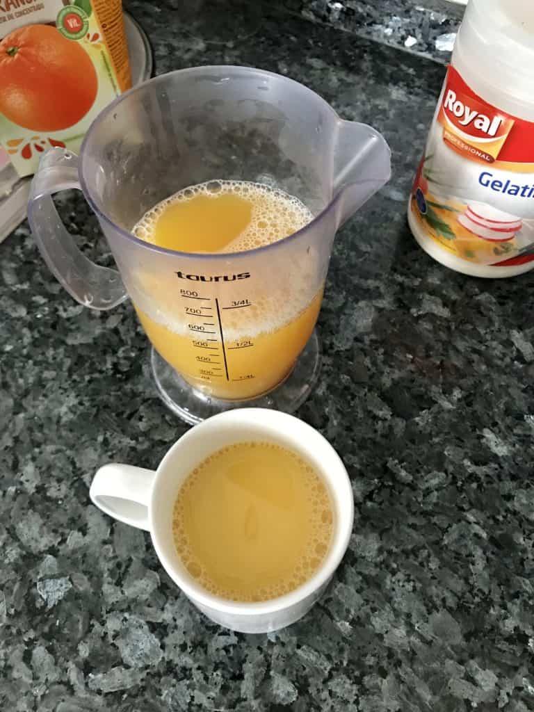 Cómo hacer gelatina en el microondas
