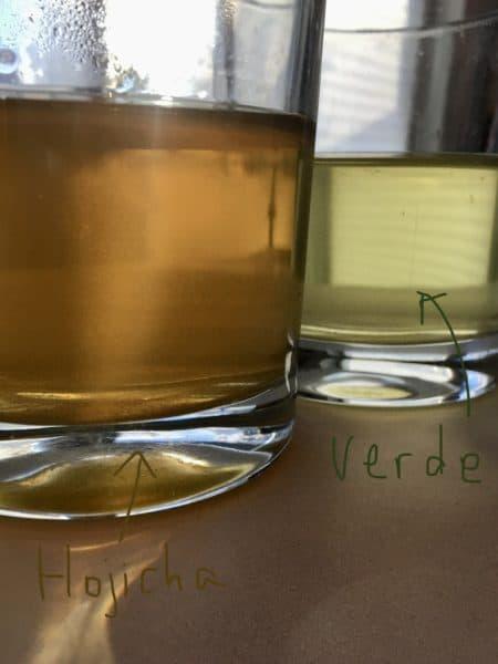 Diferencia entre hojicha y té verde